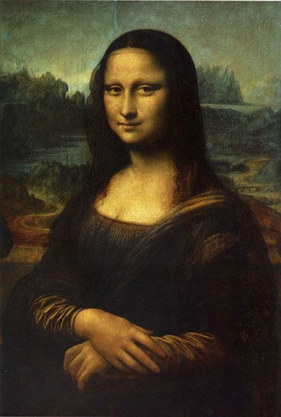 "Léonard de Vinci - Portrait de Mona Lisa dit ""La Joconde"" 1513"