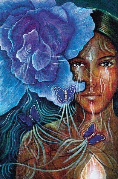 """Learn to be quiet enough to hear the sound of the genuine within yourself so that you can hear it in others."" ~ Marian Wright Edelman (art by Toni Carmine Salerno)"