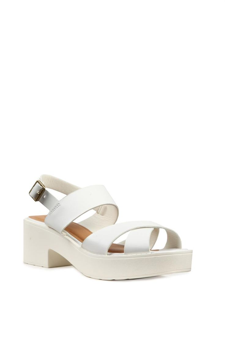 White sandals rubi shoes - Brodie Heel Cotton On