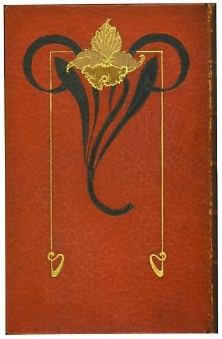 Charles Baudelaire (French, 1821 to 1867), Les Fleurs du Mal, Paris, 1901. Published by Calmann-Levy. With steel plate engravings, the full red leather binding stamped on the front and verso with an Art Nouveau floral motif and signed on the inside front cover Rene Kieffer, each interior corner embossed with a skull and crossbones.  Note: The Flowers of Evil, 1857, was perhaps the most important and influential poetry collection published in Europe in the 19th ..