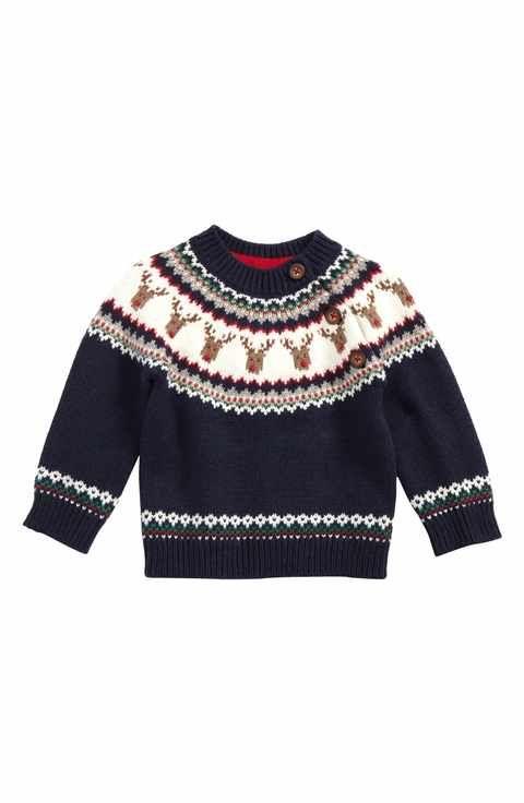 4743e52d0 Mini Boden Fair Isle Sweater (Baby Boys   Toddler Boys)