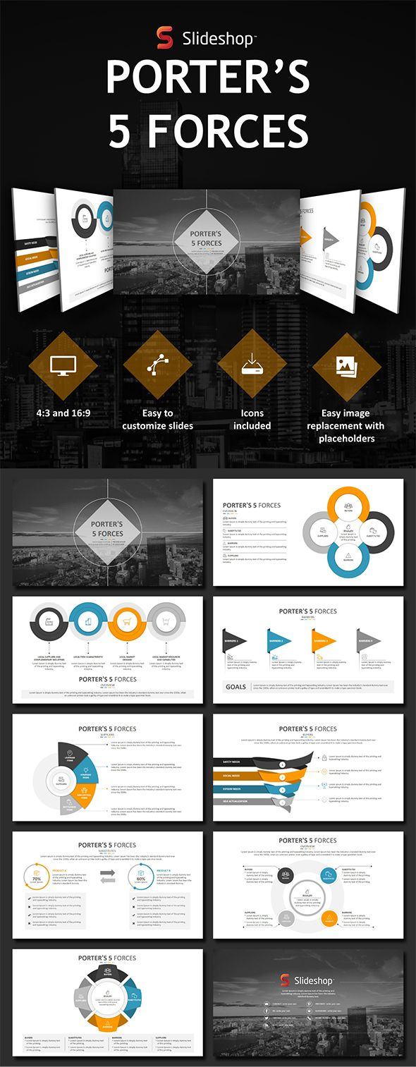 Porter's 5 Forces - PowerPoint Templates Presentation Templates Download here: https://graphicriver.net/item/porters-5-forces/19853620?ref=classicdesignp
