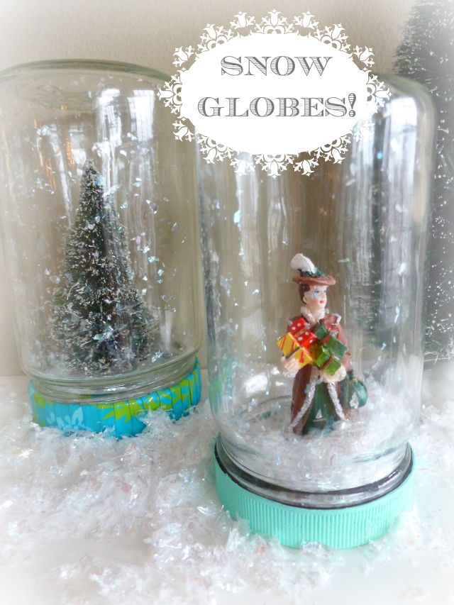 snow globes | ... make it snow on our own with these sweet little homemade snow globes
