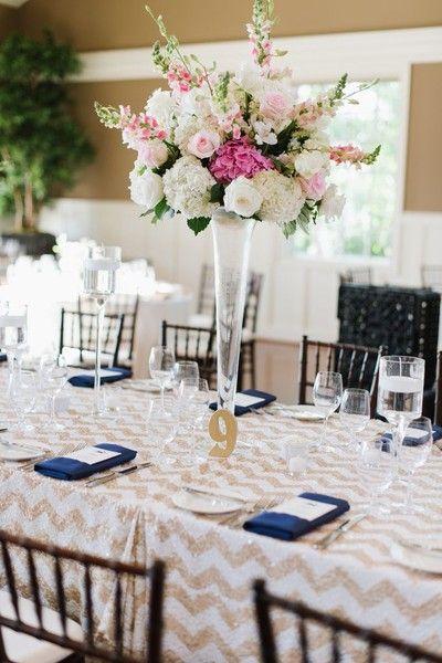 Venue/Caterer:Chesapeake Bay Beach Club  Event Planner: Erin James  Event Designer: Cathleen Moeller  Floral Designer:Cache Fleur  Linens:La Tavola Fine Linen Rental