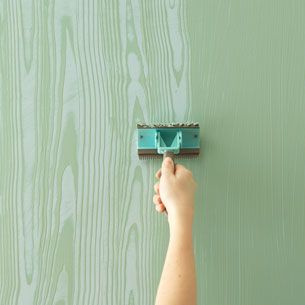 Best 25 faux wood paint ideas on pinterest metal garage for Wall painting utensils