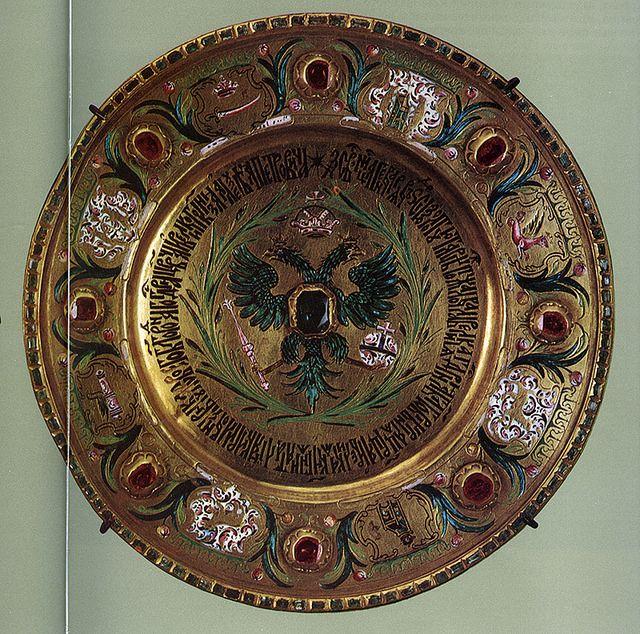 russianEnamels-тарелка золотая. 1694 г. Мастерские Московского Кремля | Flickr - Photo Sharing!