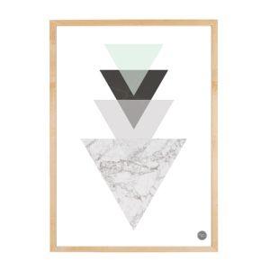 #freewallprint Geo Triangle Marble Print_House Amour