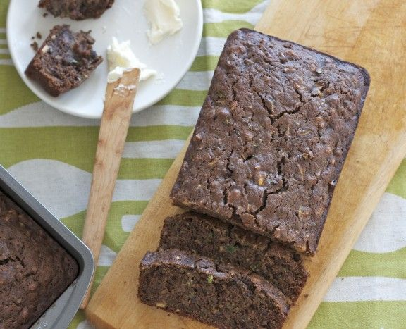 Chocolate-Zucchini Olive Oil Bread . This bread is a big hit, even ...