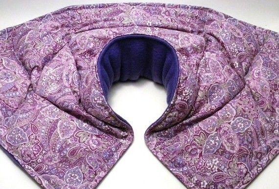 Heat Wrap Neck Wrap Shoulder Wrap, Microwave Neck Pillow Shoulder Pillow. via Etsy.
