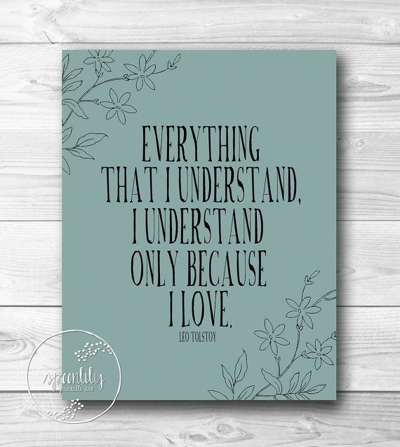 Leo Tolstoy Inspiring Quote Print- Literary Quote Wall Art - War and Peace - Quote Print - 8x10 wall art print