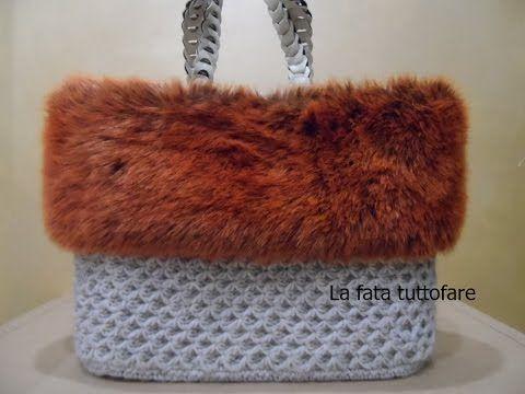 """Borsa all'uncinetto con filato volant """"sfiziosissima"""" - crochet bag - bolsa crochet - YouTube"""