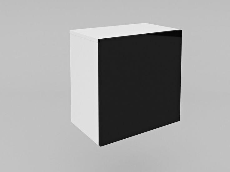 szafka wisząca kostka A4 komoda #szafka #szafa #minimalizm #glamour #retro #black #white #czarny #biały #meble #nowość #new #czarnobiały #lakier #połysk #shine