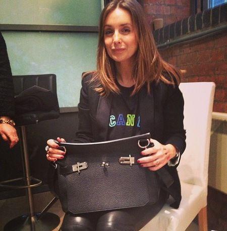 5979ef0f829d Louise Redknapp s Hermes Jypsiere Bag. www.handbag.com