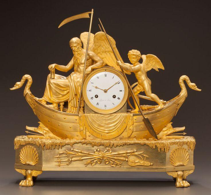 a chopin paris french empire ormolu mantel clock chopin. Black Bedroom Furniture Sets. Home Design Ideas
