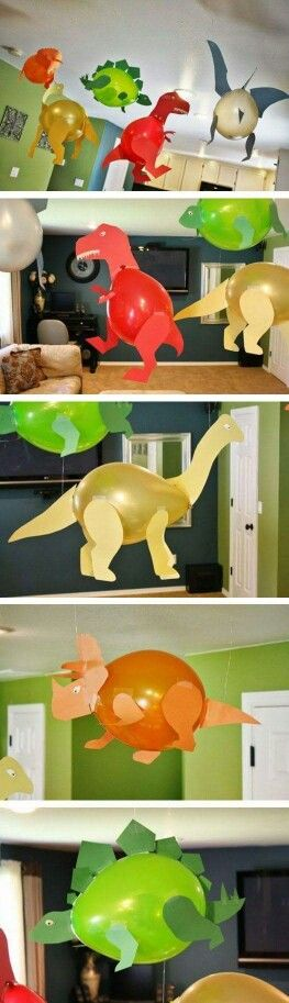 Need a fun, rainy day activity for kids? Make these creative balloon dinosaurs!
