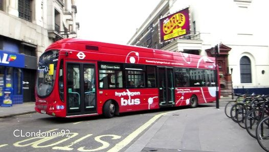 London Buses Route RV1 Operated by Tower Transit (LI Garage) Hydrogen powered VDL SB200/Wright Pulsar WSH62996 LJ13JWP filmed on 23rd October 2015