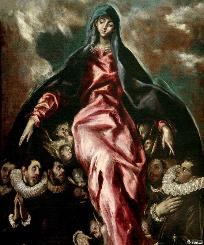 El patrocinio de la Virgen de la Caridad, (1597-1603) Hospital de la Caridad de Illescas, Toledo.