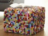 Beaton Cube Ottoman - Garnet Hill - eclectic - ottomans and cubes - - by Garnet Hill