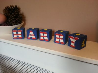 Real wood building blocks 6cmx6cmx6cm Lots of colours and shapes available to make these perfect personalised gifts- Dancing Duck Designs