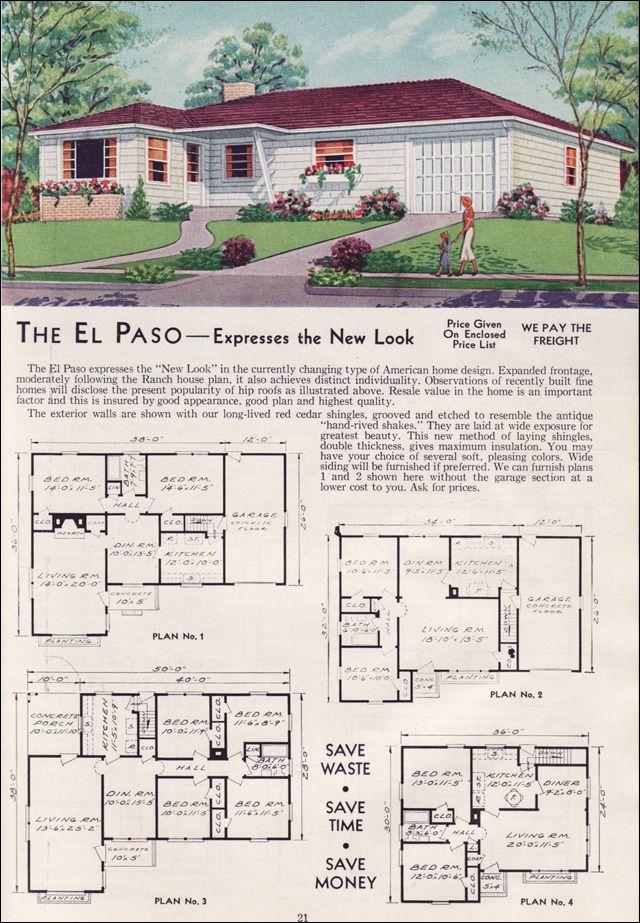 1951 Aladdin Kit Houses The El Paso Vintage House