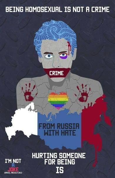 Being Homosexual is not a crime. Hurting someone for being is. #lgbt #russia #redrainbow #ЛГБТ #Россия #гей #краснаярадуга