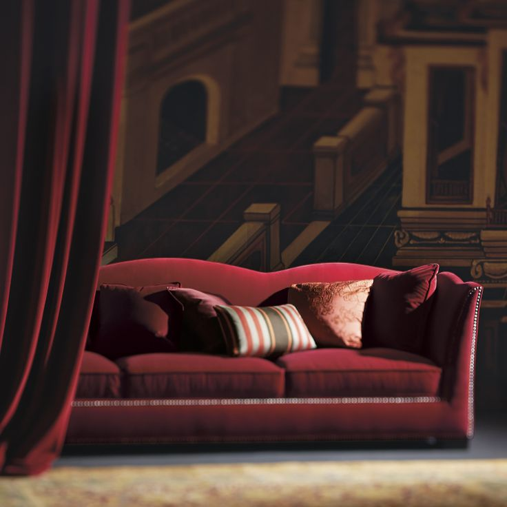 Kirkland Sofa, In Red