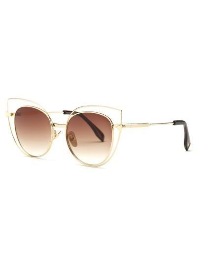 Gafas de sol del ojo de gato Hollow