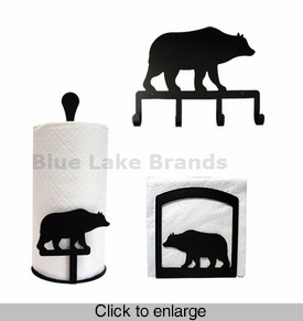 Cabin Bear Kitchen Decor Set