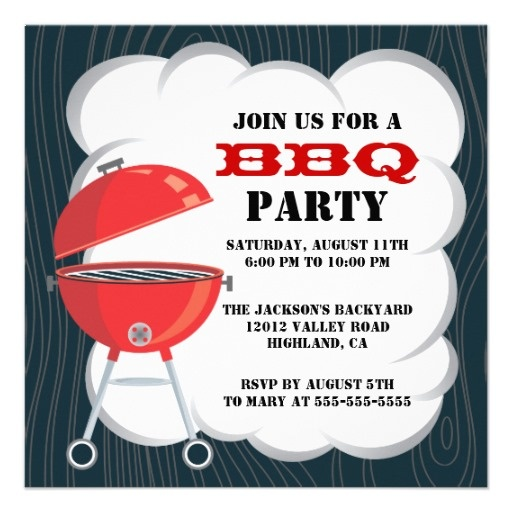 BBQ Party Invitation | Bbq party, Party invitations and ...