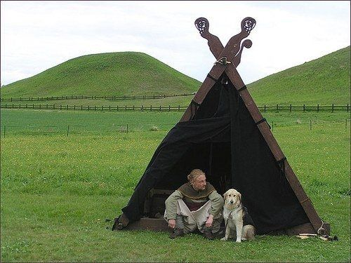 More Vikings (with cute dogs and tents for kids to play in).