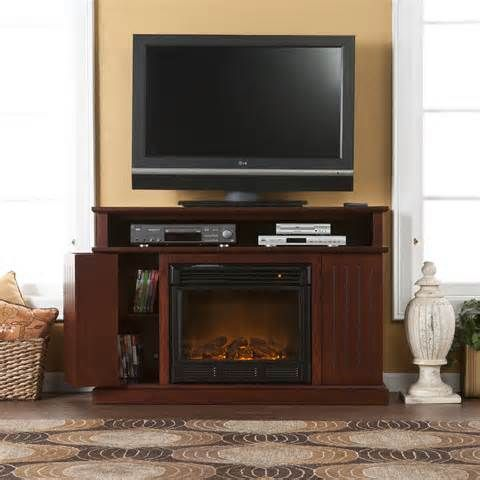 flat screen tv stands with fireplace