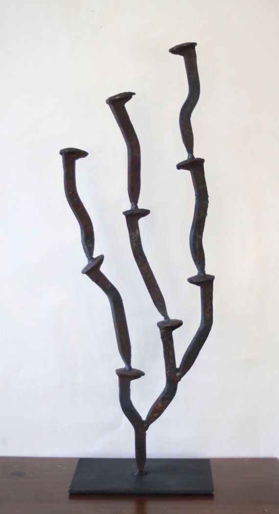 Railroad Nail's Sculpture by ForgedLamps on Etsy, $70.00