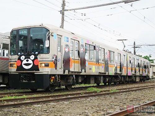【熊本地震】 「「くまモン電車」銀座線でも運行 熊本電鉄とおそろい 東京メトロ」の写真   乗りものニュース