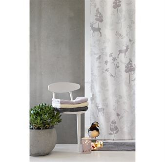 Fairytale-inspired shower curtain from Design by Susanne Schjerning. Perfect to have in the bathrrom to add some color and playfulness. Choose from two beautiful designs, Cloud and Mist
