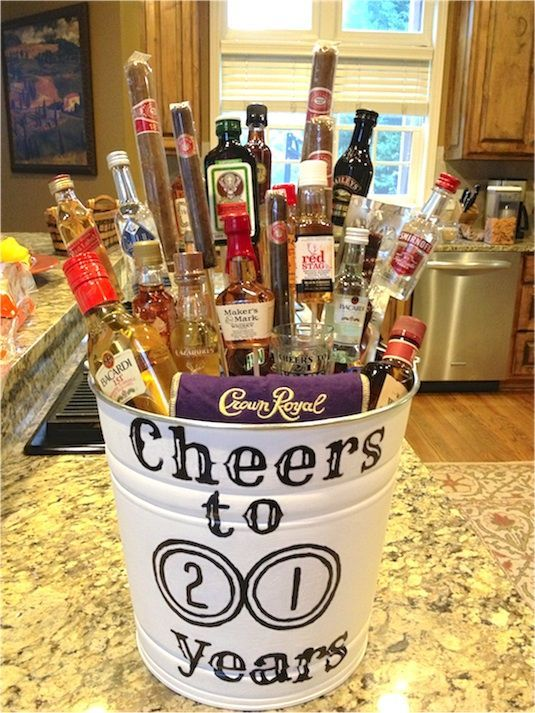35 Easy DIY Gift Ideas Everyone Will Love- personalized beer glass with a few minis would be a great birthday gift!