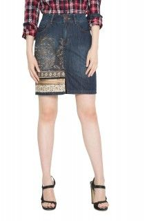 Desigual modrá džínová sukně Cathy - 2699 Kč