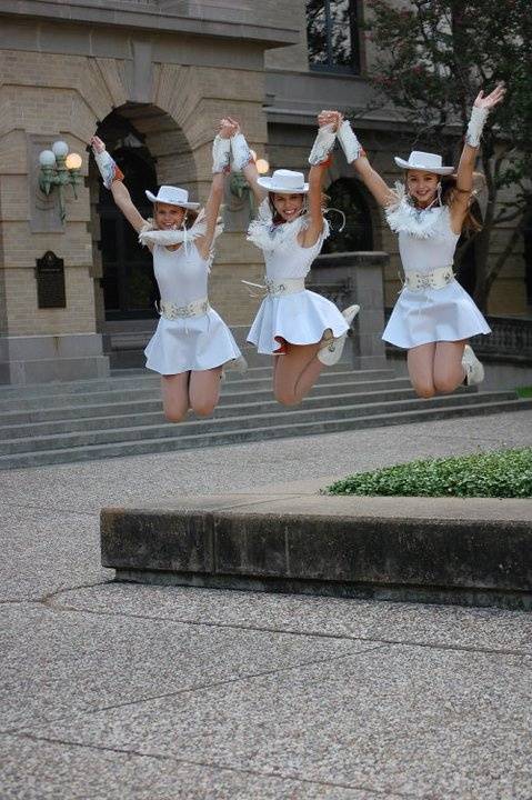 This was a pic from drill team officer photos so I know it's not a roommate picture, but I like the idea of taking a jumping photo (: (Taken in Academic Plaza, at Texas A  M).