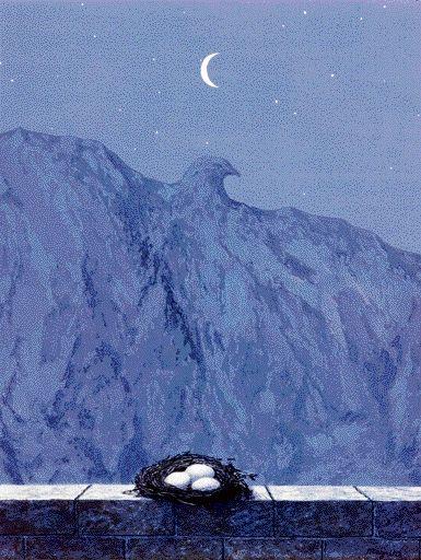 The Batle of the Ardonne  -  René Magritte  1964  Belgian 1898-1967                                                                                                                                                                                 More