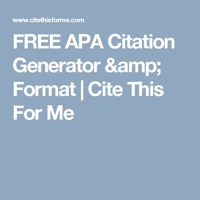 apa citation generator research papers Helpful tips for your citation our citation guides provide detailed information about all types of sources in mla, apa, chicago and turabian styles if required by your instructor, you can add annotations to your citations.