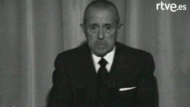 Comunicado en televisión de la muerte de Franco.