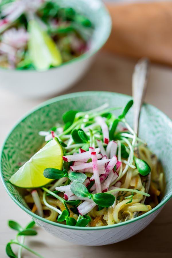 Coconut Lime Noodle Bowls by healthyseasonalrelcipes #Noodle_Bowls #Healthy #Vegan #GF