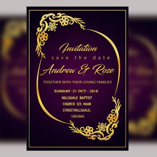Whatsapp Wedding Invitation Card Psd Free Wedding Invitation Templates Marriage Invitation Card Format Invitation Card Format