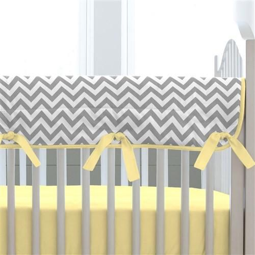 Gray and Yellow Zig Zag Crib Bedding | Bold Chevron Crib Bedding | Carousel Designs