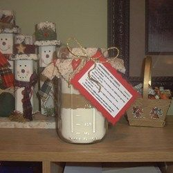 Sugar cookie mix in a jar. This makes a great gift for those who have everything.