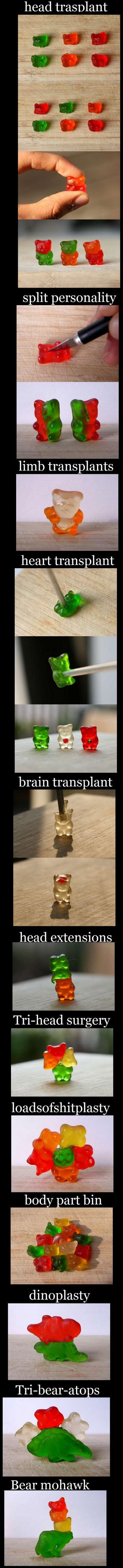This is too funny ~ Frank loves gummy bears ~ I may have to try this the next time he buys a bag :)