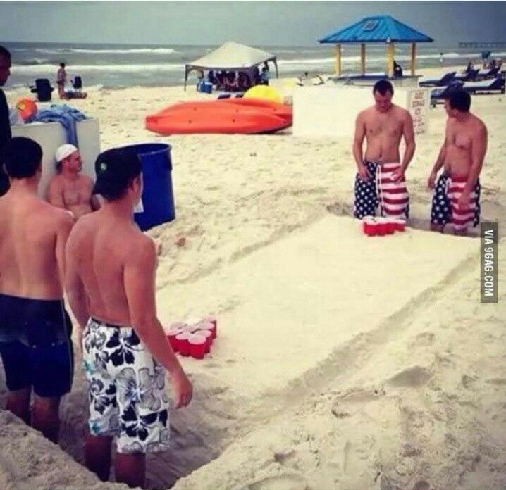 Beach Beer Pong!!