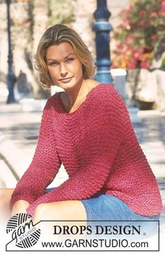 DROPS Pullover in Muskat, Cotton Frisé and Cotton Viscose. Free pattern by DROPS Design.