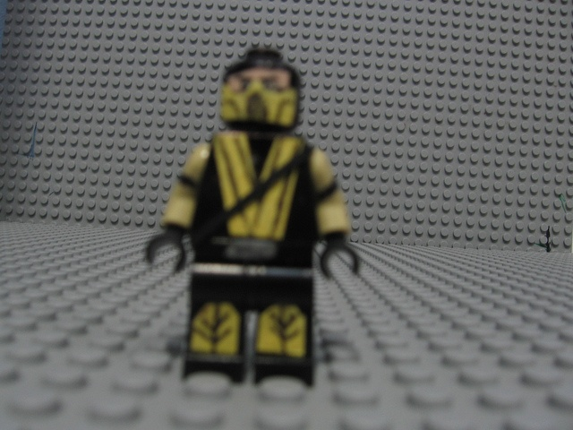 lego mortal kombat scorpion by the mexican bandit via