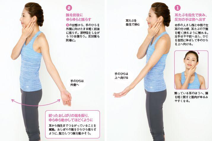 肩のゆがみをとり、猫背解消に効くゆらしメソッド:日経ウーマンオンライン