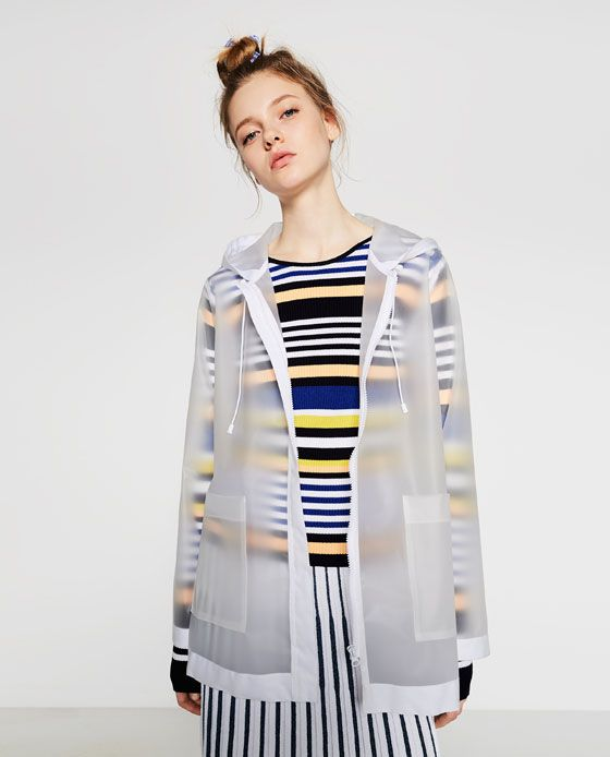 Image 2 of SHEER RAINCOAT from Zara